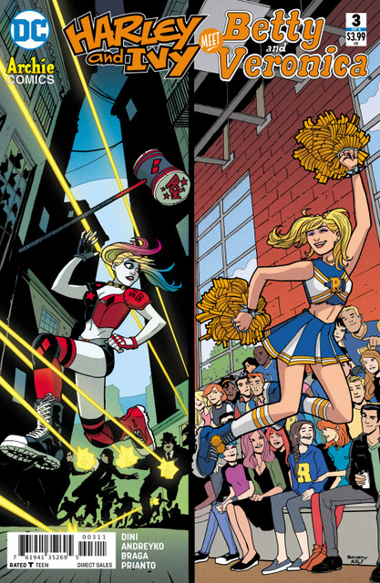 Harley Quinn and Poison Ivy Meet Betty and Veronica #3 cover