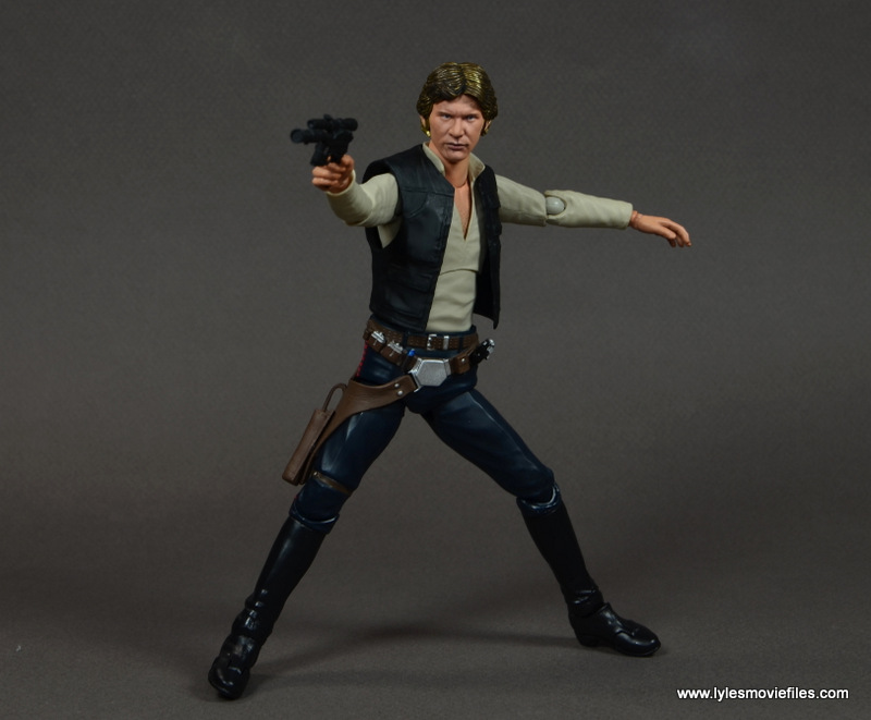 SH Figuarts Han Solo figure review -aiming