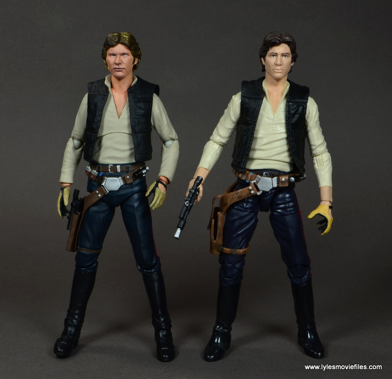 SH Figuarts Han Solo figure review -comparison with Star Wars Black Han Solo