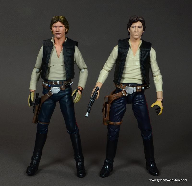 SH Figuarts Han Solo figure review -comparison with Star Wars Black Han Solo