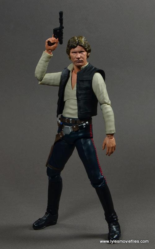 SH Figuarts Han Solo figure review -raising blaster