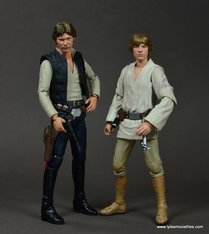 SH Figuarts Han Solo figure review -with SH Figuarts Luke Skywalker