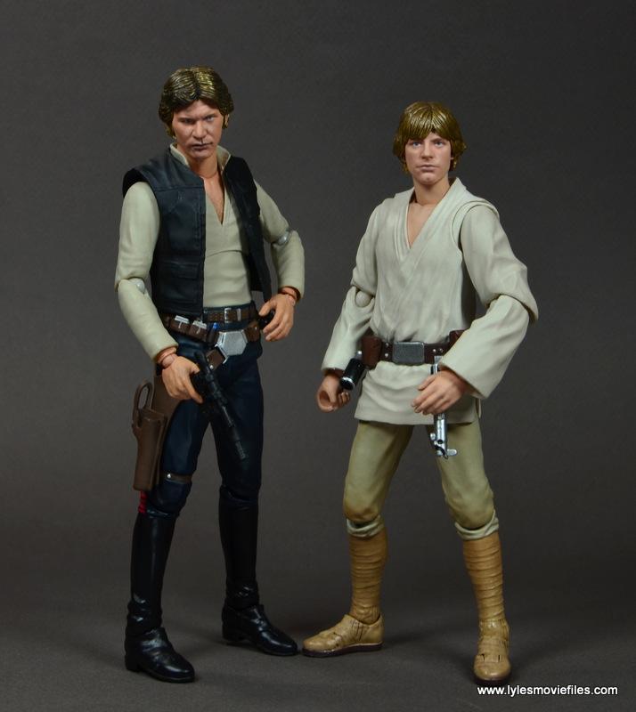 SH Figuarts Han Solo figure review -with SH Figuarts Luke Skywalker