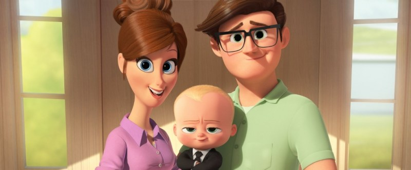 The Boss Baby review - Mom, Boss Baby and Dad