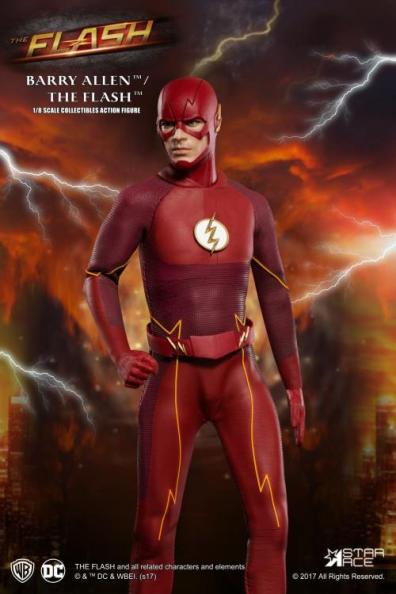 The Flash Real Master Series figure -looking right