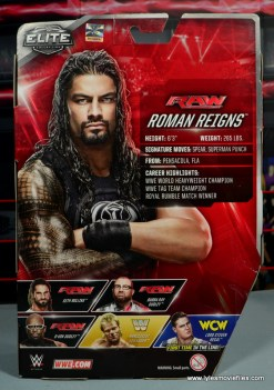 WWE Elite 45 Roman Reigns figure review - package rear