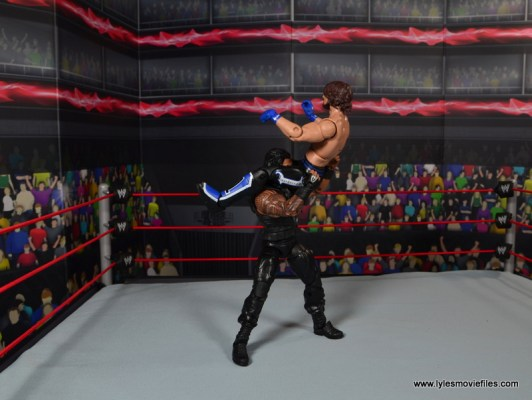 WWE Elite 45 Roman Reigns figure review - powerbomb to AJ Styles