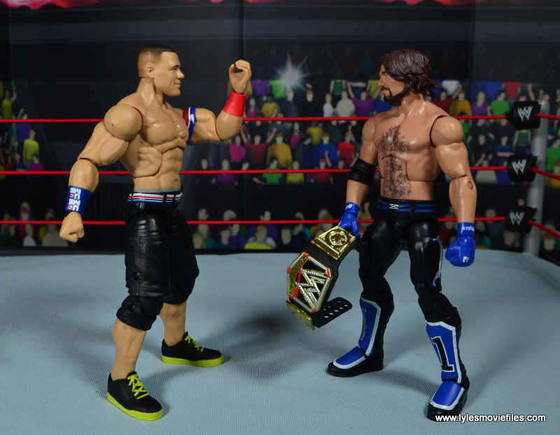 WWE Elite 50 John Cena figure review - AJ can't see Cena