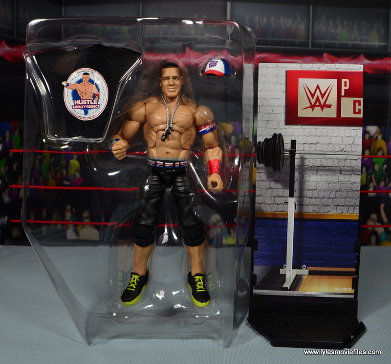 WWE Elite 50 John Cena figure review -in tray
