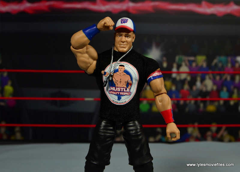 WWE Elite 50 John Cena figure review -saluting