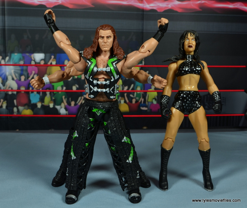 WWE Elite D-Generation X Shawn Michaels figure review - X posing with DX