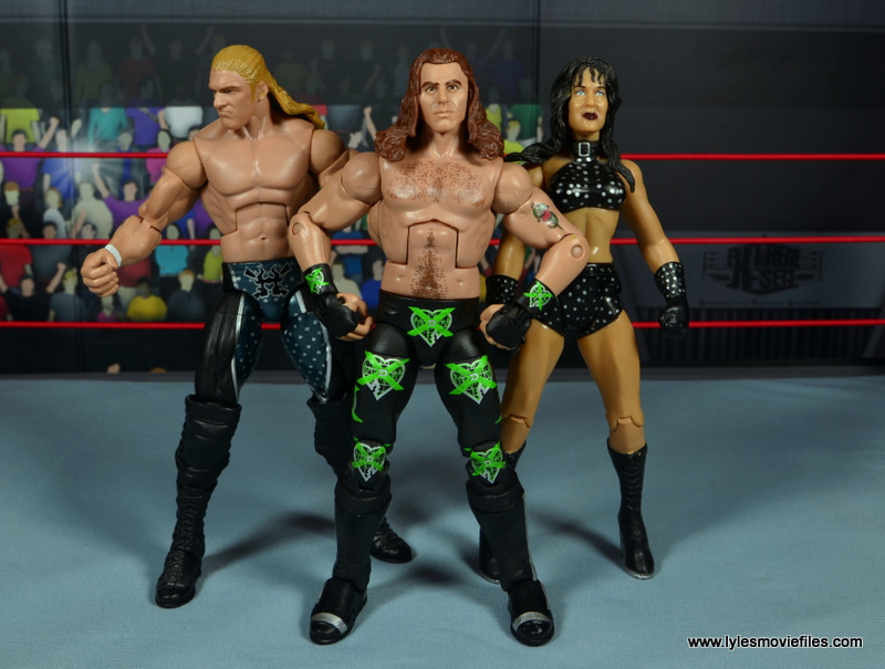 WWE Elite D-Generation X Shawn Michaels figure review - with Triple H and Chyna