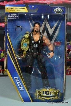 WWE Elite Hall of Fame Diesel figure review -package front