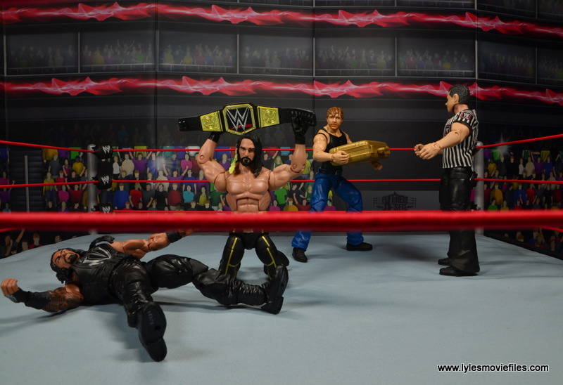 wwe network spotlight dean ambrose figure review -about to cash in on seth rollins