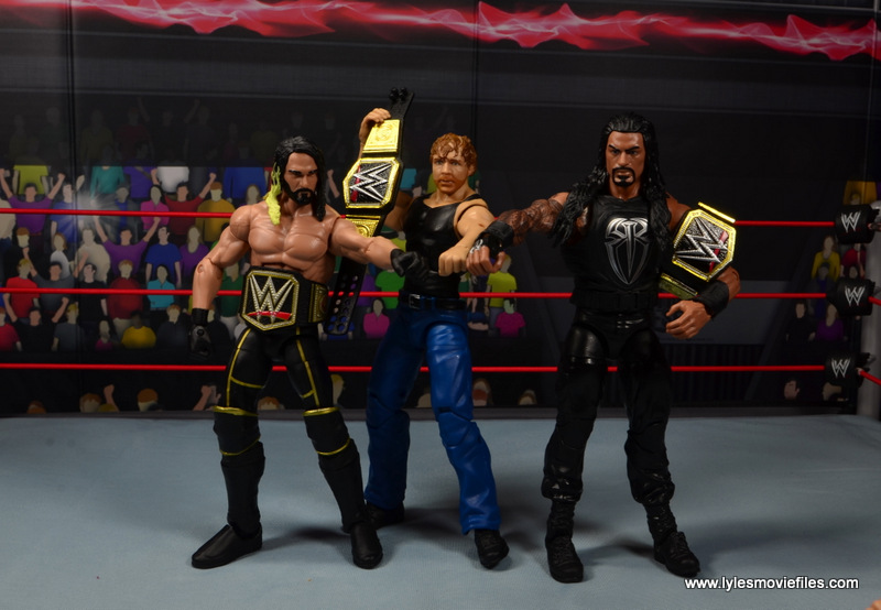 wwe network spotlight dean ambrose figure review -the shield as world champions