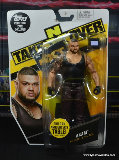 wwe nxt basic akam figure review -package front