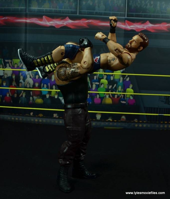 wwe nxt basic akam figure review -powerbombing wilder