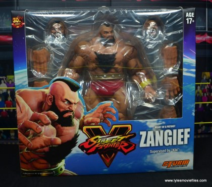 Storm Collectibles Street Fighter V Zangief figure review -package front