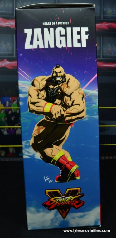 Storm Collectibles Street Fighter V Zangief figure review -package side