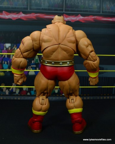 Storm Collectibles Street Fighter V Zangief figure review -rear