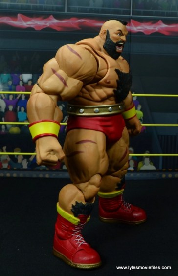 Storm Collectibles Street Fighter V Zangief figure review -right side