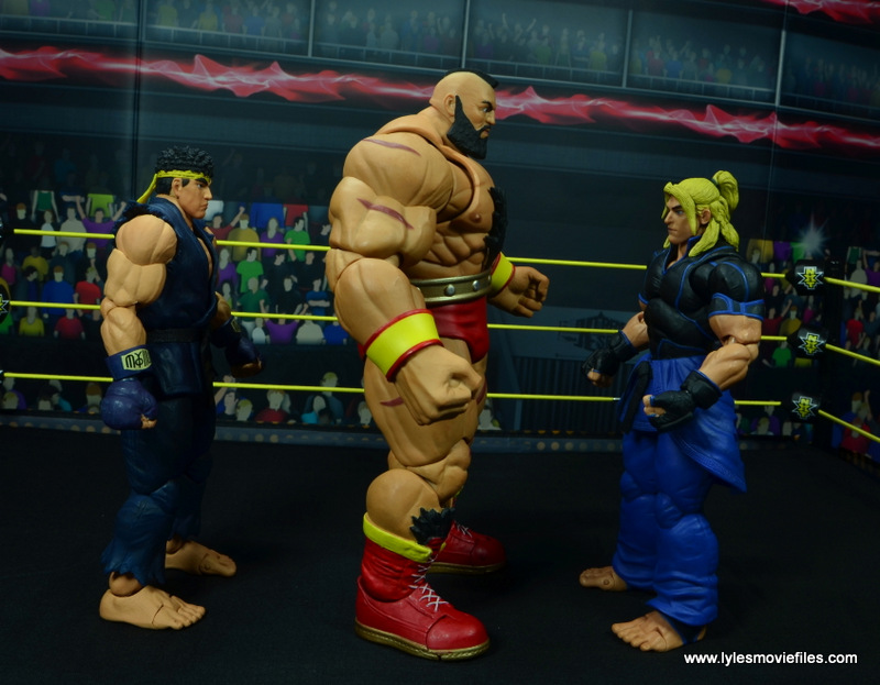 Storm Collectibles Street Fighter V Zangief figure review -scale with ryu and ken