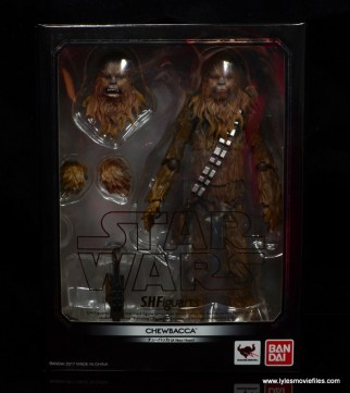 bandai sh figuarts chewbacca figure review - front package