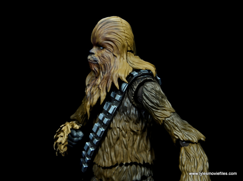 bandai sh figuarts chewbacca figure review - head articulation