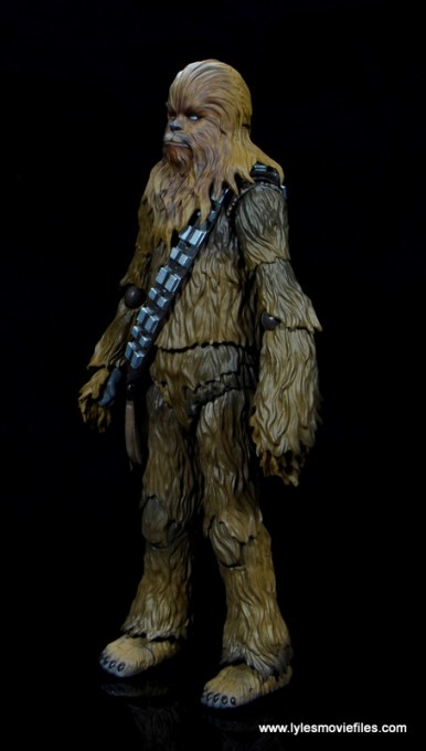 bandai sh figuarts chewbacca figure review - left side
