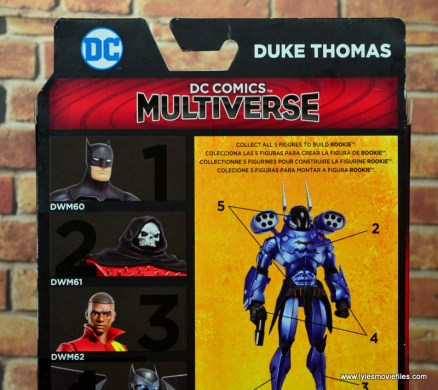 dc multiverse duke thomas figure review - package rear close up