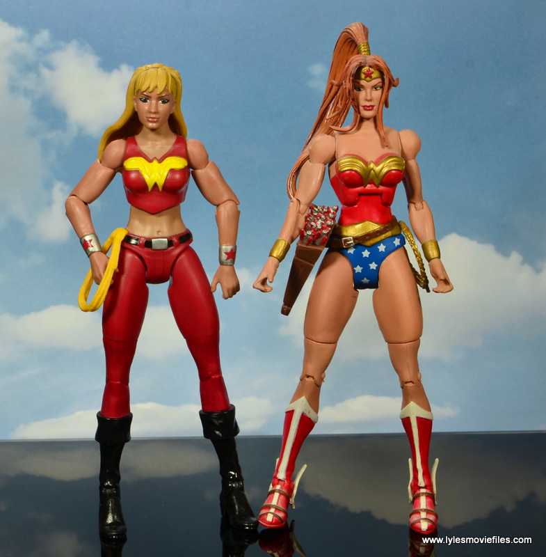 dc multiverse wonder girl figure review - scale with artemis