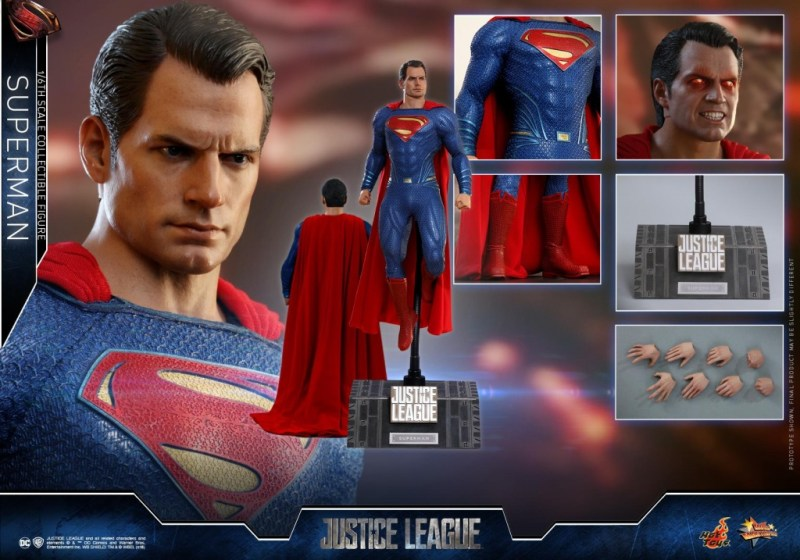 hot toys justice league superman figure review -collage