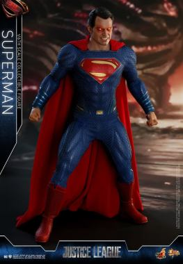hot toys justice league superman figure review - heat vision ready