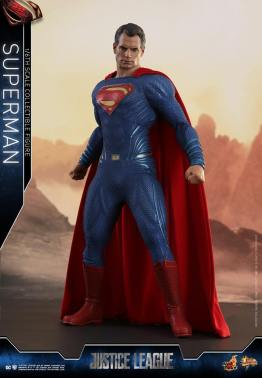 hot toys justice league superman figure review -wide stance