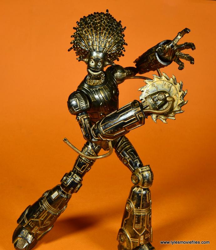 marvel legends baf warlock figure review - battle ready with buzzsaw