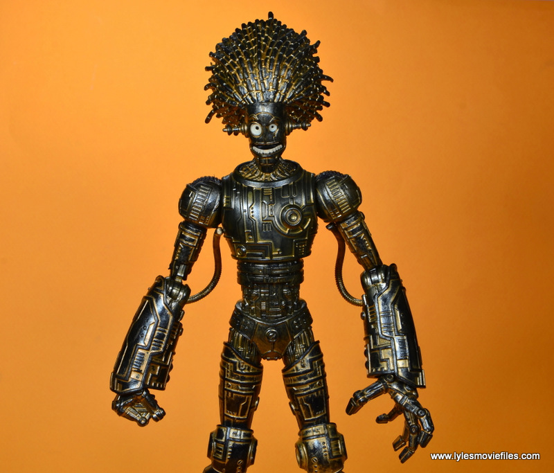 marvel legends baf warlock figure review -front details