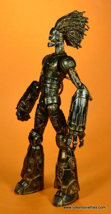 marvel legends baf warlock figure review -left side