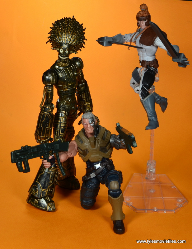 marvel legends baf warlock figure review -ready to fight alongside cable and shatterstar