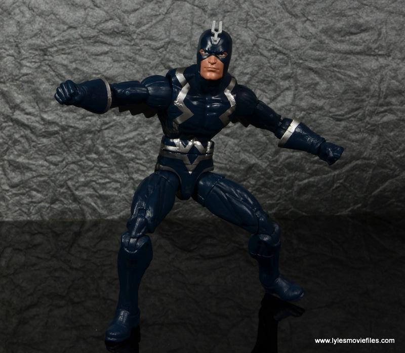 marvel legends black bolt figure review -crouching