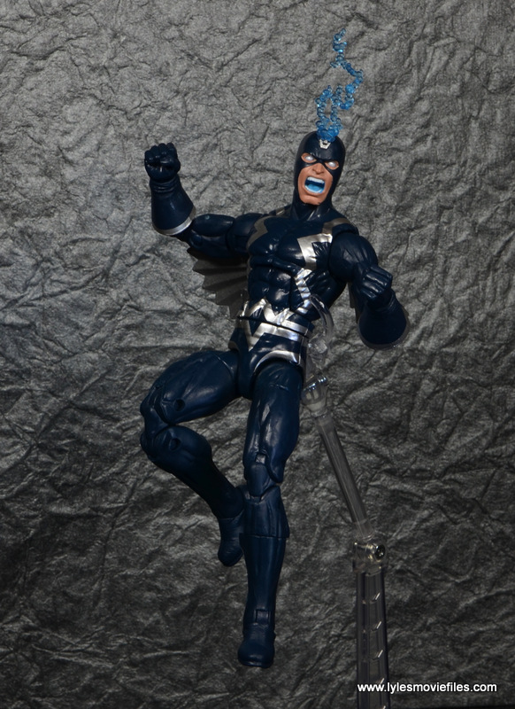 marvel legends black bolt figure review -flying angry