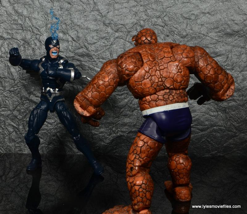 marvel legends black bolt figure review -vs the thing
