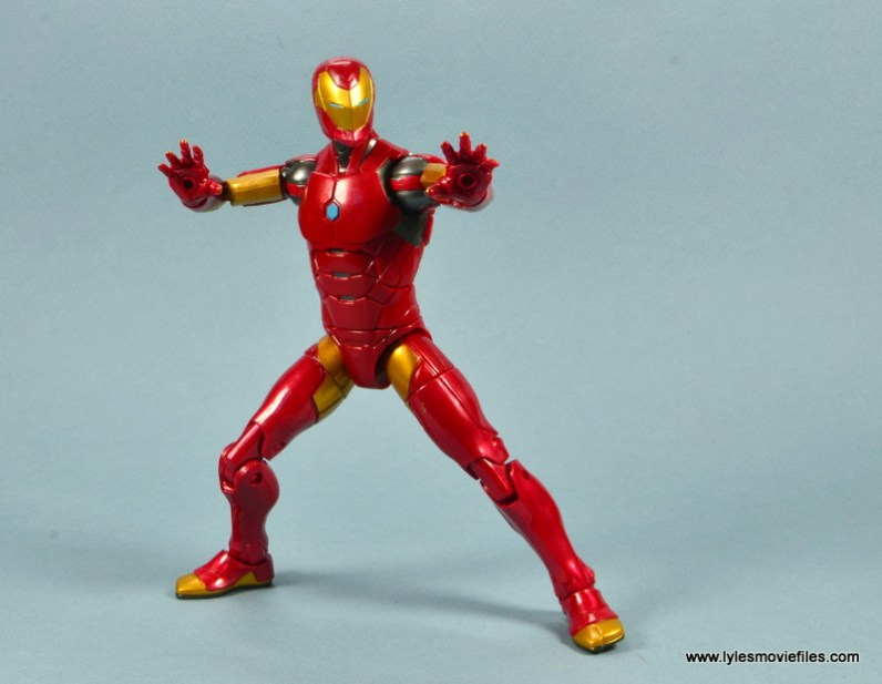 marvel legends invincible iron man figure review -aiming