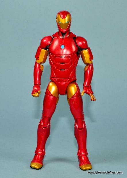 marvel legends invincible iron man figure review -front