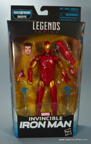 marvel legends invincible iron man figure review - package front