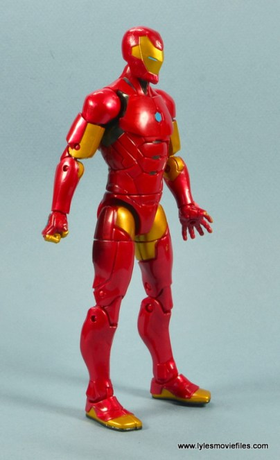 marvel legends invincible iron man figure review - right side