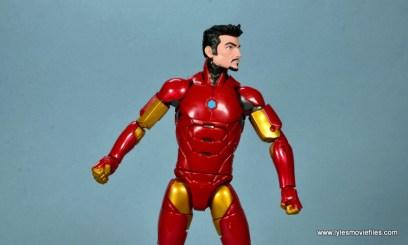marvel legends invincible iron man figure review -tony stark headsculpt side