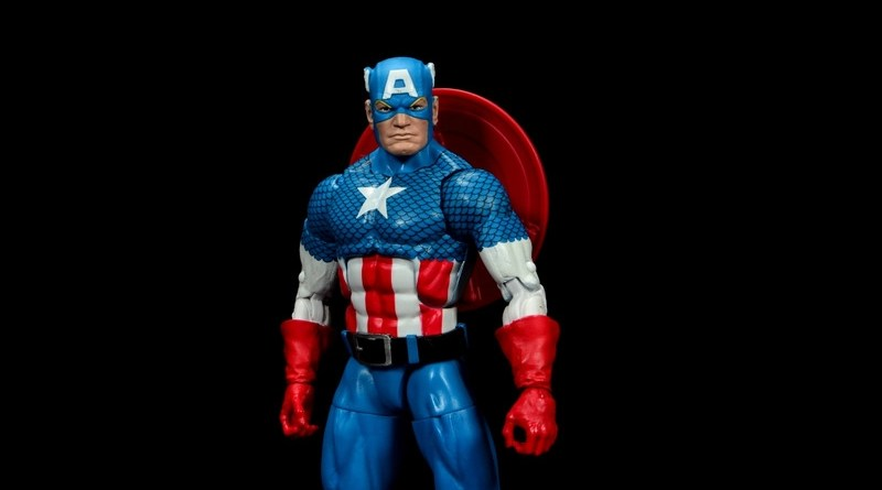 marvel legends retro captain america figure review - main