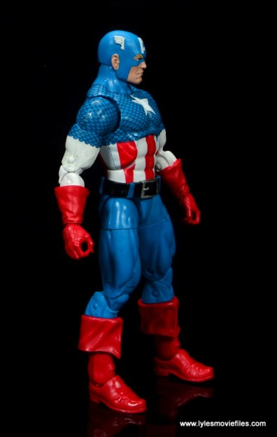 marvel legends retro captain america figure review - right side