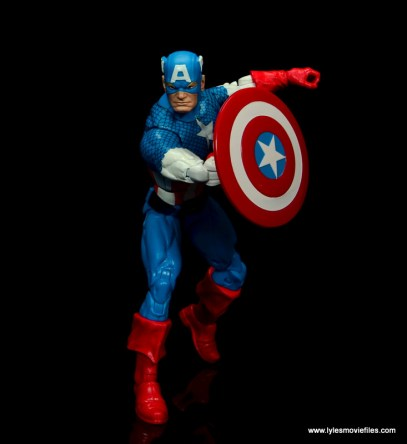 marvel legends retro captain america figure review - running into action
