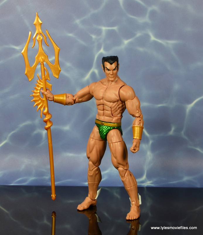 marvel legends sub-mariner figure review -holding trident